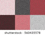 set of vector abstract seamless ... | Shutterstock .eps vector #560435578