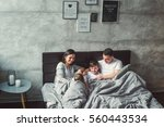mother  father and two sons  on ...   Shutterstock . vector #560443534