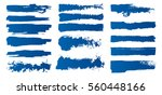 set of hand painted brush... | Shutterstock .eps vector #560448166