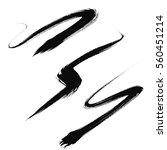 vector set of grunge brush... | Shutterstock .eps vector #560451214