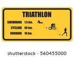 color vector symbol triathlon...   Shutterstock .eps vector #560455000