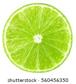 Juicy Slice Of Lime Isolated O...