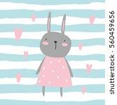 Vector Print With Rabbit