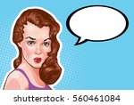 vintage woman portrait  vector... | Shutterstock .eps vector #560461084