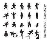 people icon set. people running ... | Shutterstock .eps vector #560465719