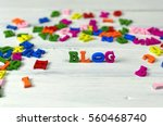 Blog Word Composed Of Small...