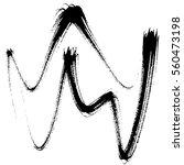vector set of grunge brush... | Shutterstock .eps vector #560473198