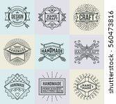 handmade craft insignias... | Shutterstock .eps vector #560473816