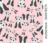 pattern of panda. | Shutterstock .eps vector #560478274