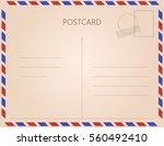 vintage postcard. vector... | Shutterstock .eps vector #560492410