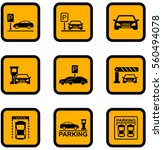 set of yellow isolated car... | Shutterstock .eps vector #560494078