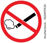 no smoking  prohibited sign | Shutterstock .eps vector #560495920