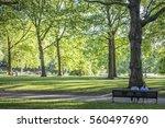 green park bench | Shutterstock . vector #560497690