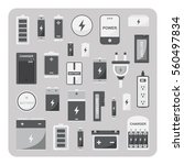 vector of flat icons  different ... | Shutterstock .eps vector #560497834
