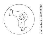 hair dryer icon | Shutterstock .eps vector #560502088