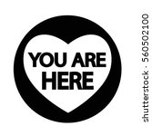 you are here icon | Shutterstock .eps vector #560502100