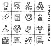 outline icons collection for... | Shutterstock .eps vector #560502724