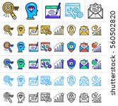 unique linear icons with... | Shutterstock .eps vector #560502820