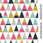 seamless geometric pattern with ... | Shutterstock .eps vector #560503243
