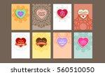 wedding invitation card or... | Shutterstock .eps vector #560510050