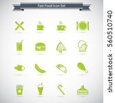 food icons   fast food icon set   Shutterstock .eps vector #560510740