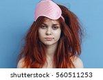morning woman. funny portrait...   Shutterstock . vector #560511253