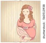 vintage style graphic portrait... | Shutterstock . vector #560513938
