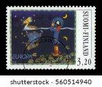 finland   circa 1997  a stamp... | Shutterstock . vector #560514940
