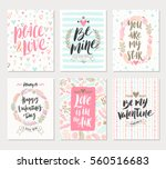 vector set of valentine's day... | Shutterstock .eps vector #560516683