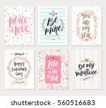 vector set of valentine's day... | Shutterstock .eps vector #560516683