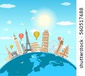 travel  journey  trip vector.... | Shutterstock .eps vector #560517688