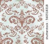 vector illustration. damask... | Shutterstock .eps vector #560518318