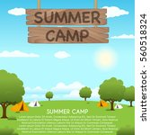 Summer Camp Vector Illustration