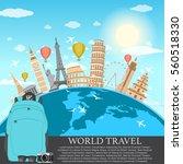 travel  journey  trip vector ... | Shutterstock .eps vector #560518330