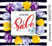 spring sale concept. spring... | Shutterstock .eps vector #560519770