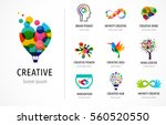 creative  digital abstract... | Shutterstock .eps vector #560520550