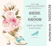 vintage wedding invitation | Shutterstock .eps vector #560525158