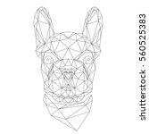 french bulldog  animal head in...   Shutterstock .eps vector #560525383