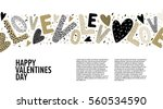 Stock vector romantic concept background with beautiful hearts letters and confetti on white paper vector 560534590