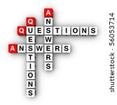 Question and Answers (conner design element) - stock photo