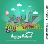 amusement park concept with... | Shutterstock .eps vector #560538184
