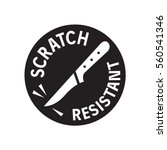 scratch resistant sign  vector | Shutterstock .eps vector #560541346
