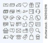 e commerce  line icons set | Shutterstock .eps vector #560543398