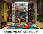 luthier's workbench | Shutterstock . vector #560543944