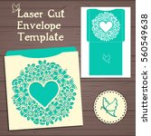 lazercut vector wedding... | Shutterstock .eps vector #560549638