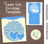 lazercut vector wedding... | Shutterstock .eps vector #560549644