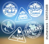 stamp with thailand map made in ... | Shutterstock .eps vector #560553688