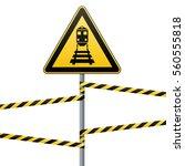 caution   danger  warning sign... | Shutterstock .eps vector #560555818