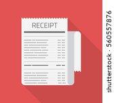 receipt vector icon in modern... | Shutterstock .eps vector #560557876