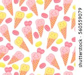 candy seamless pattern with... | Shutterstock .eps vector #560559079